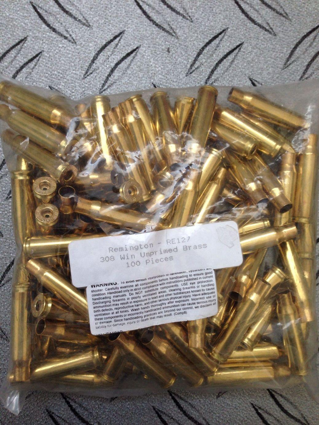 Remington  308 Brass x 100 e